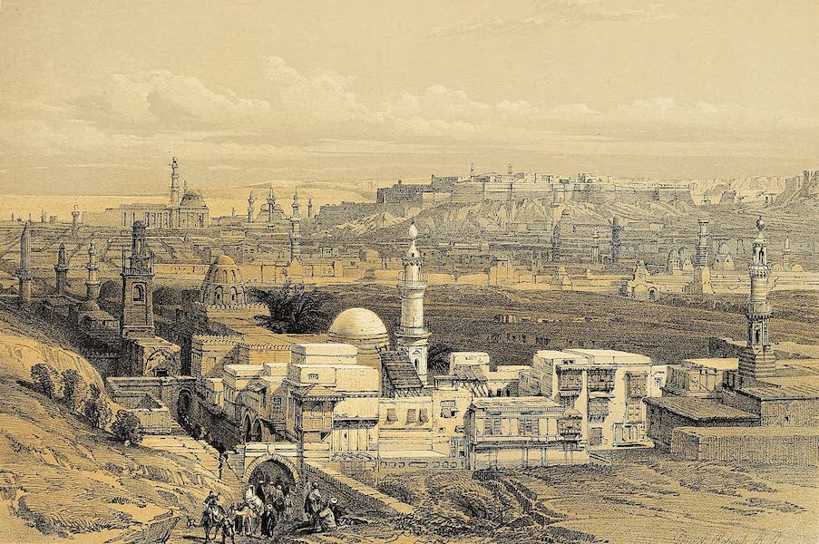 The Holy Land : Syria, Idumea, Arabia, Egypt & Nubia Vols. 5 & 6 - Cairo, from the Gate of Citizenib, looking towards the Desert of Suez (1855)