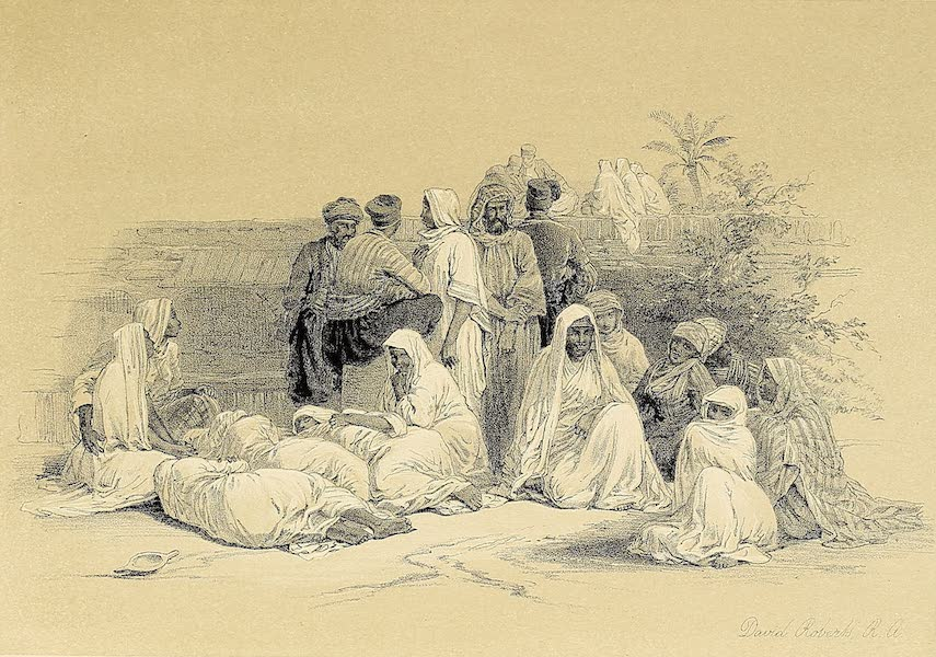 The Holy Land : Syria, Idumea, Arabia, Egypt & Nubia Vols. 5 & 6 - A Group in the Slave-Market of Cairo (1855)