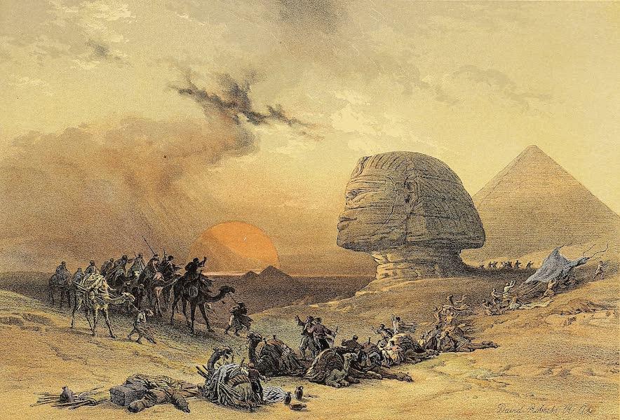 The Holy Land : Syria, Idumea, Arabia, Egypt & Nubia Vols. 5 & 6 - The Simoom in the Desert (1855)