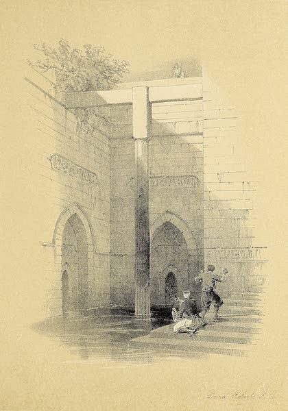 The Holy Land : Syria, Idumea, Arabia, Egypt & Nubia Vols. 5 & 6 - The Nilometer on the Isle of Rhoda, Cairo (1855)