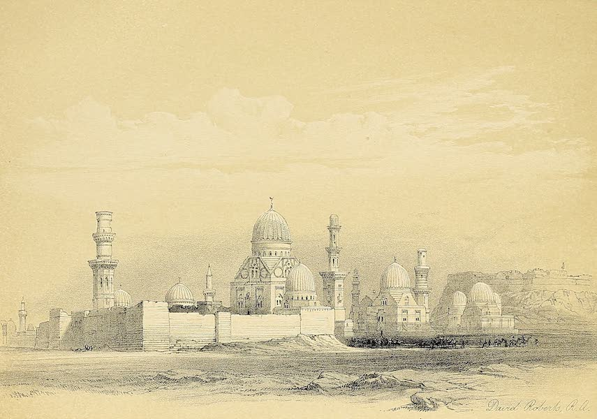 The Holy Land : Syria, Idumea, Arabia, Egypt & Nubia Vols. 5 & 6 - Tombs of the Memlooks, Cairo (1855)