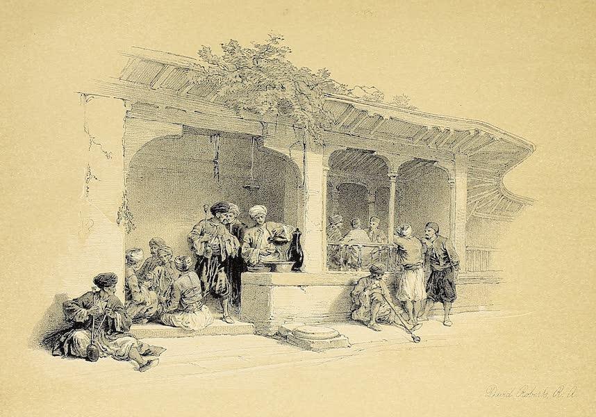 The Holy Land : Syria, Idumea, Arabia, Egypt & Nubia Vols. 5 & 6 - The Coffee-Shop of Cairo (1855)