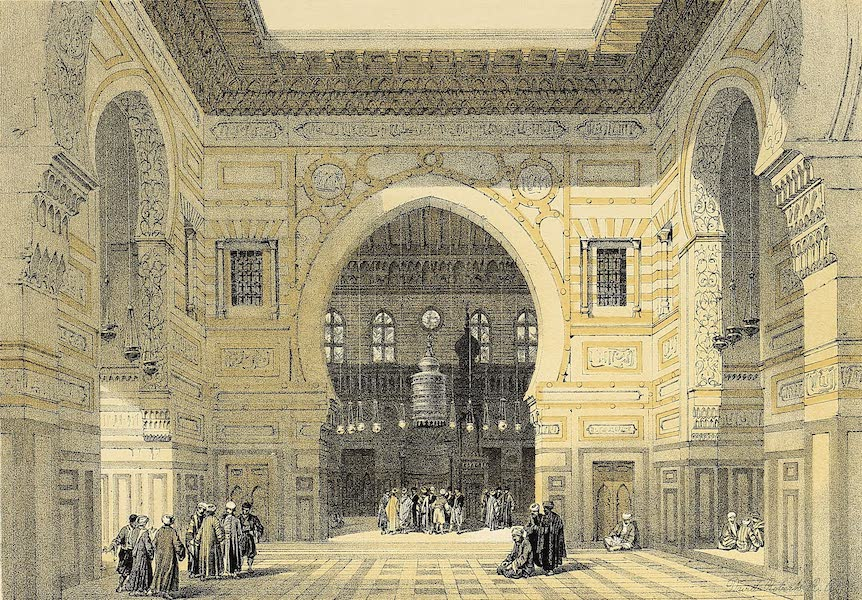 The Holy Land : Syria, Idumea, Arabia, Egypt & Nubia Vols. 5 & 6 - Interior of the Mosque of the Sultan El Ghoree (1855)