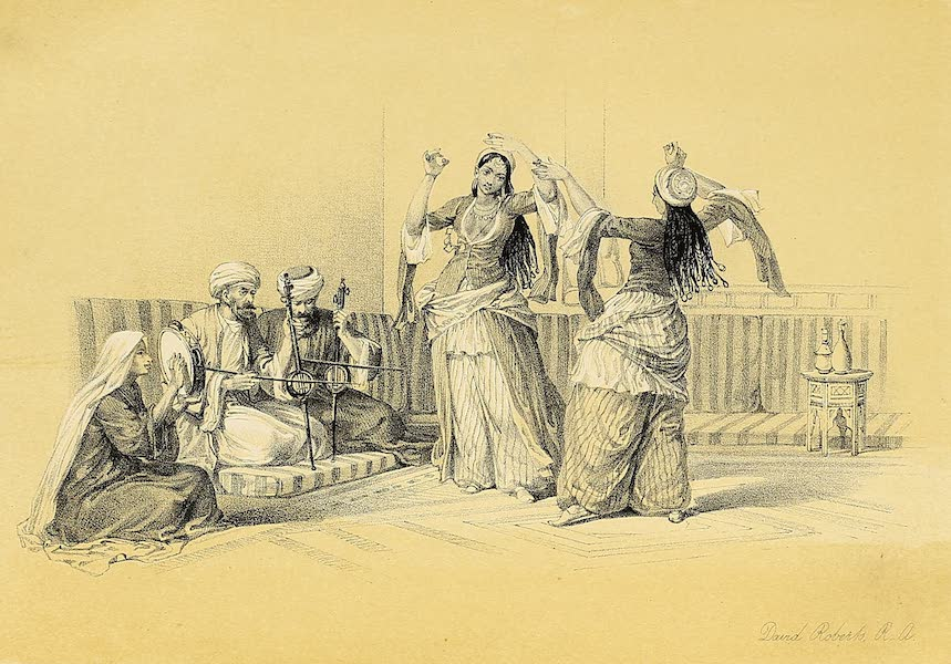 The Holy Land : Syria, Idumea, Arabia, Egypt & Nubia Vols. 5 & 6 - The Ghawazee, or Dancing Girls, Cairo (1855)