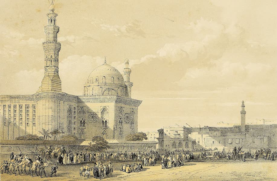 The Holy Land : Syria, Idumea, Arabia, Egypt & Nubia Vols. 5 & 6 - Mosque of the Sultan Haassan, from the Great Square of the Rumeyleh (1855)