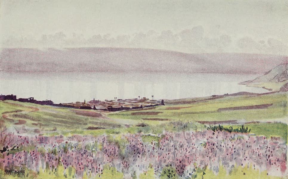 The Home of Fadeless Splendour or, Palestine of Today - Tiberias as seen from the Road to Nazareth (1921)