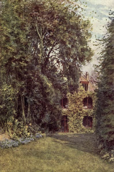 The Homes of Tennyson Painted and Described - Glimpse of Farringford from the Upper Lawn (1905)