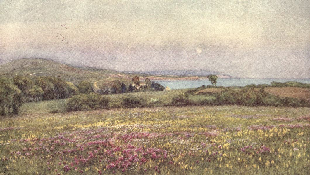 The Homes of Tennyson Painted and Described - Freshwater Bay (1905)