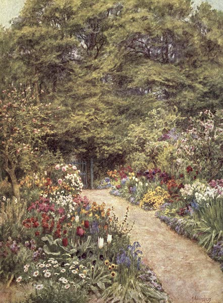 The Homes of Tennyson Painted and Described - The Kitchen Garden, Farringford (1905)