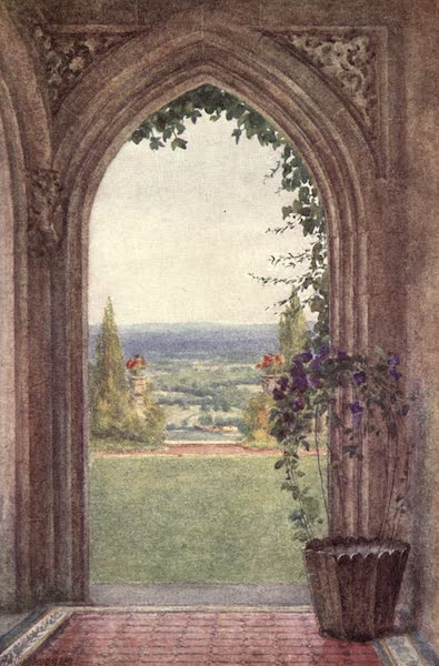 The Homes of Tennyson Painted and Described - From the Porch, Aldworth (1905)