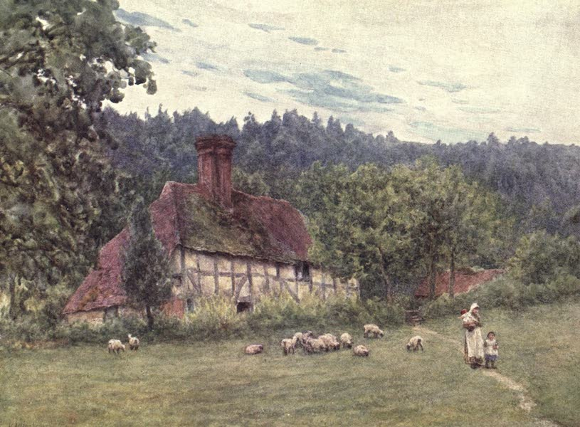 The Homes of Tennyson Painted and Described - Cottage at Roundhurst (1905)