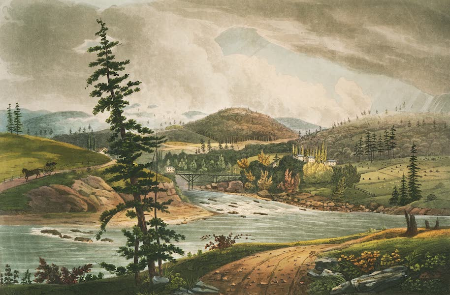 The Hudson River Portfolio - The junction of the Sacandaga and Hudson Rivers (1820)