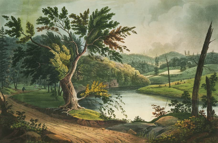 The Hudson River Portfolio - View near Jessups Landing (1820)