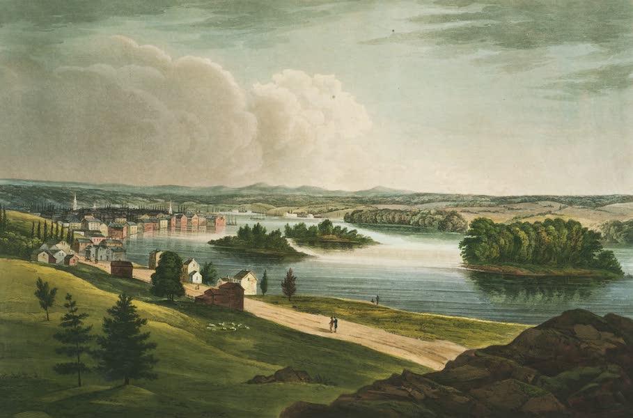 The Hudson River Portfolio - Troy from Mount Ida (1820)