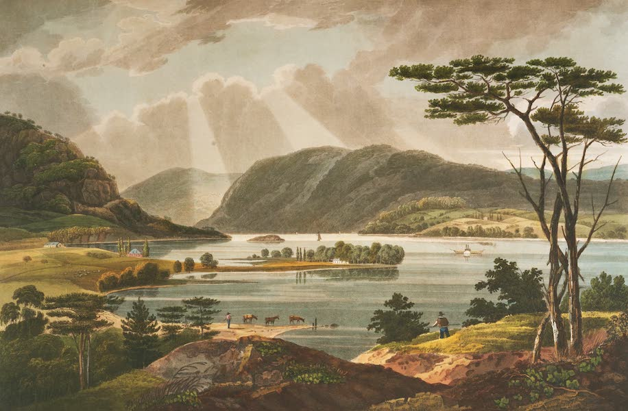 The Hudson River Portfolio - View from Fishkill looking to West Point (1820)