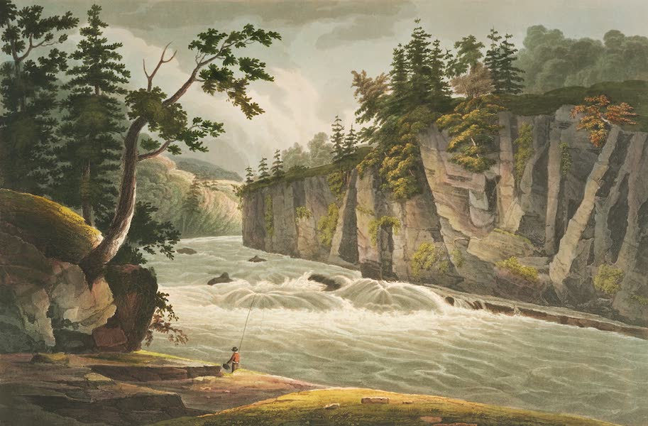 The Hudson River Portfolio - Rapids above Hadleys Falls (1820)