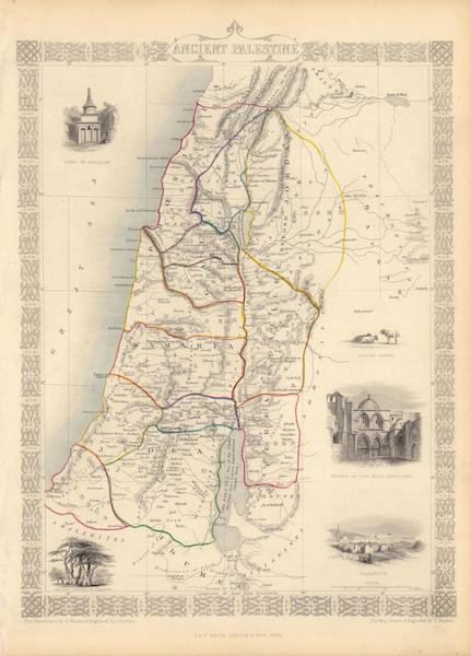 The Illustrated Atlas - Ancient Palestine (1851)