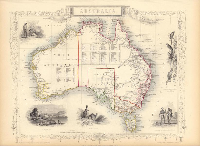 The Illustrated Atlas - Australia (1851)