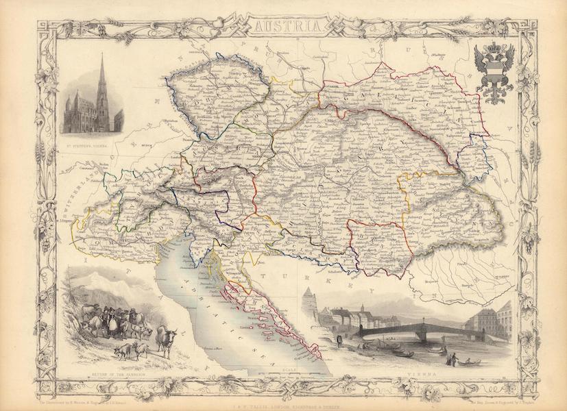 The Illustrated Atlas - Austria (1851)