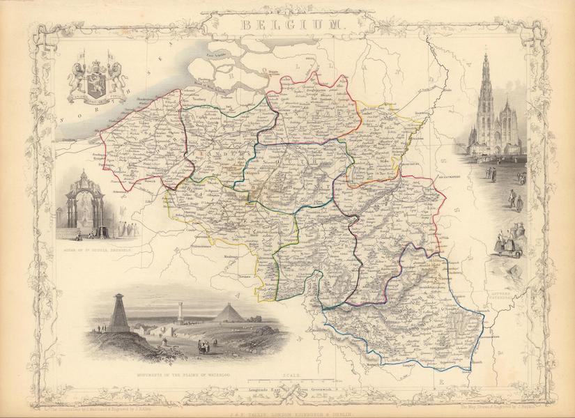 The Illustrated Atlas - Belgium (1851)