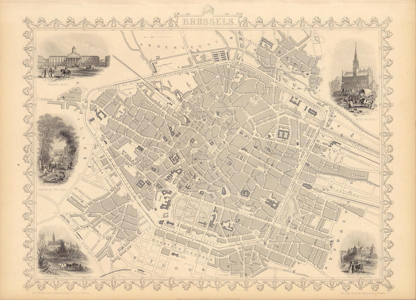 The Illustrated Atlas - Brussels (1851)