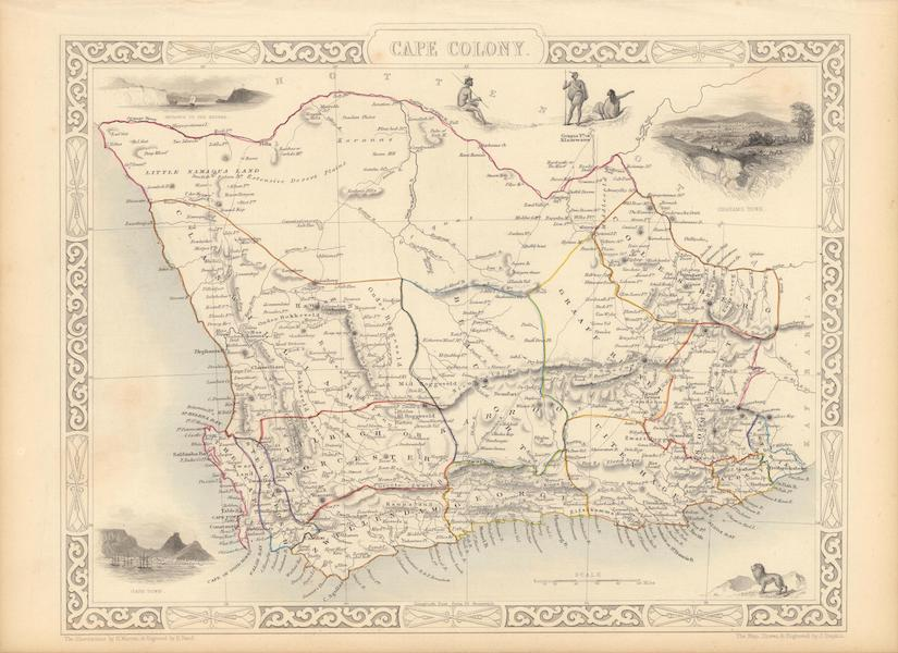 The Illustrated Atlas - Cape Colony (1851)