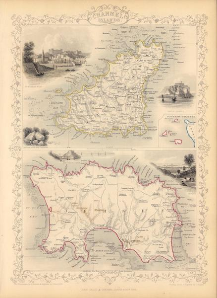 The Illustrated Atlas - Channel Islands. (with) inset map of the English Channel (1851)
