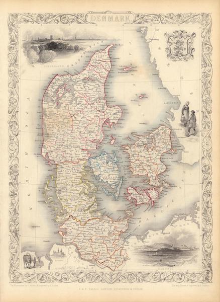 The Illustrated Atlas - Denmark (1851)