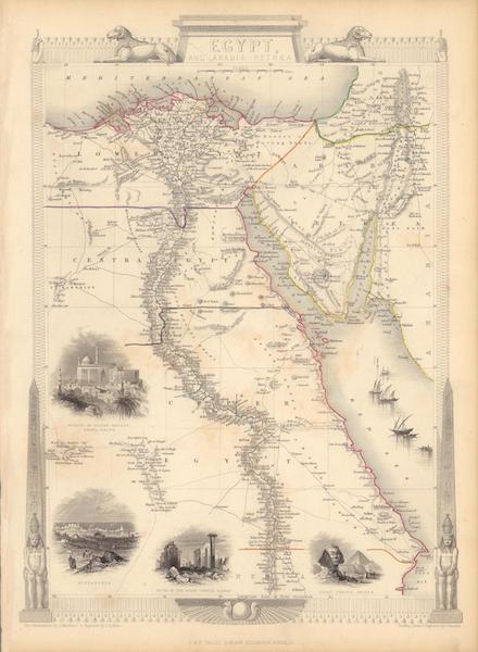 The Illustrated Atlas - Egypt, and Arabia Petraea (1851)