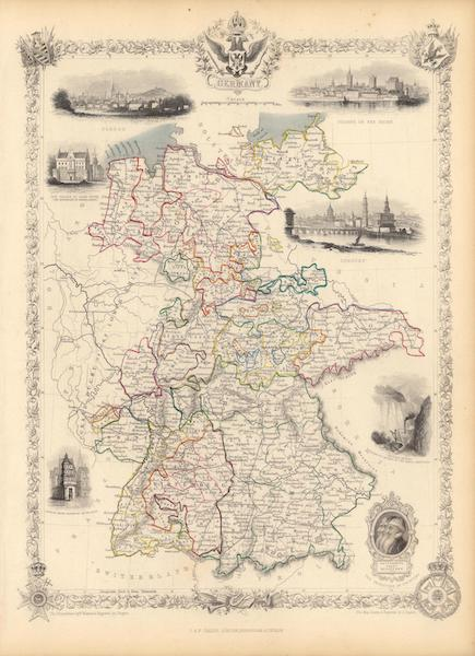 The Illustrated Atlas - Germany (1851)