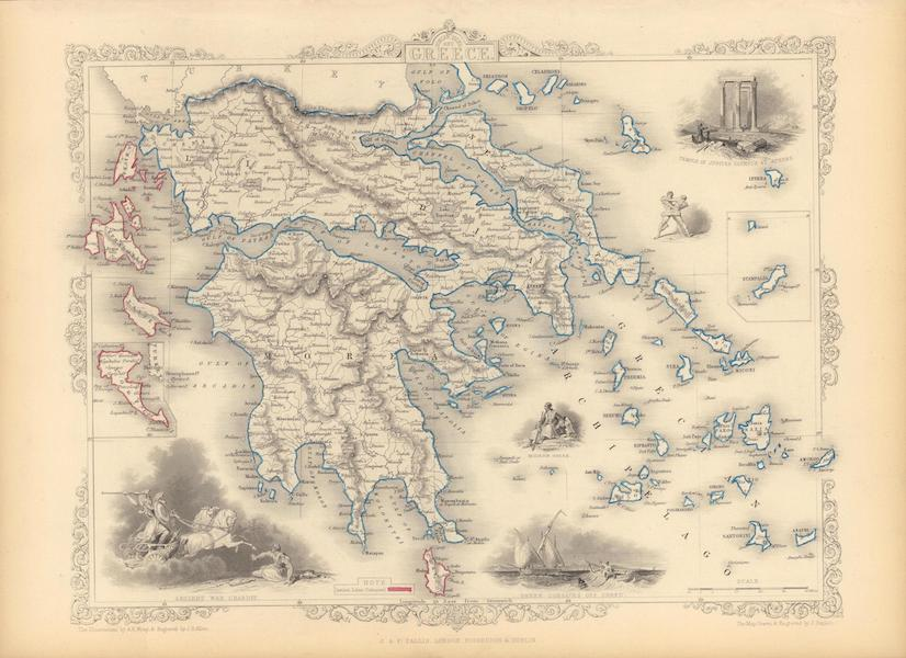 The Illustrated Atlas - Greece. (with) inset maps of Corfu and Stampalia (1851)