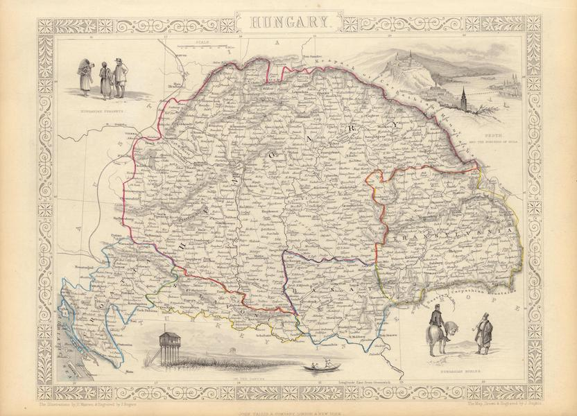 The Illustrated Atlas - Hungary (1851)