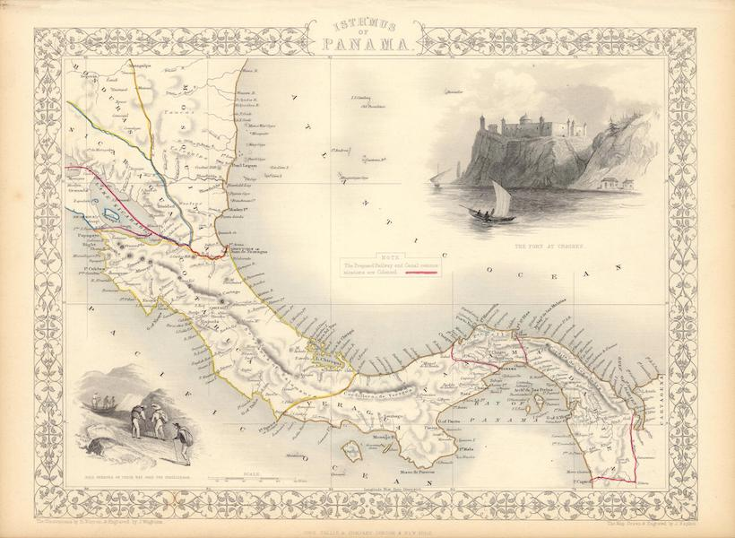 The Illustrated Atlas - Isthmus of Panama (1851)