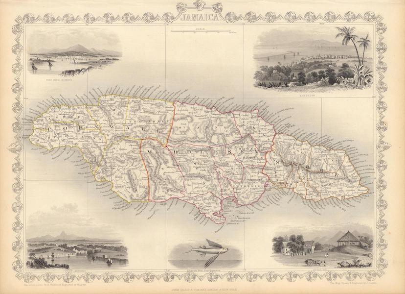 The Illustrated Atlas - Jamaica (1851)