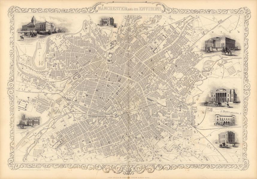 The Illustrated Atlas - Manchester and It's Environs (1851)