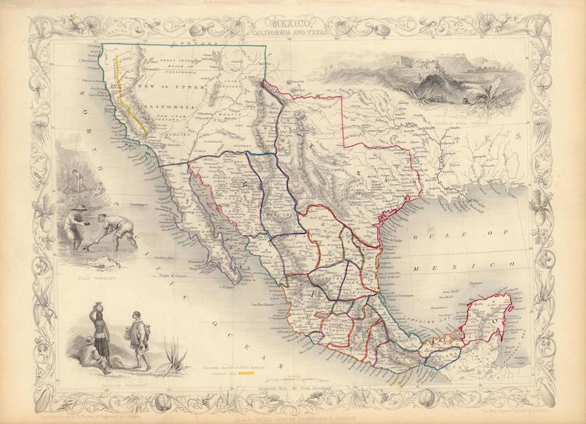 The Illustrated Atlas - Mexico, California and Texas (1851)