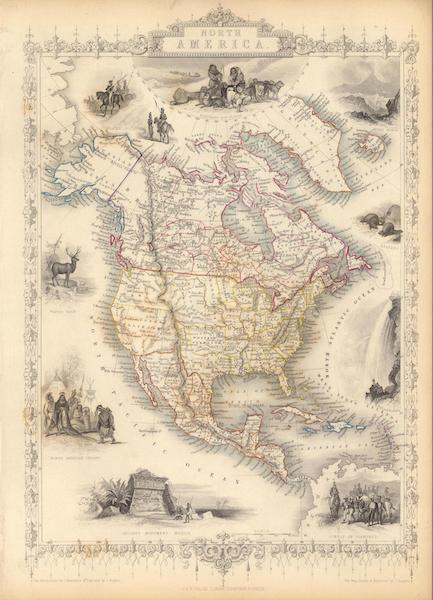 The Illustrated Atlas - North America (1851)