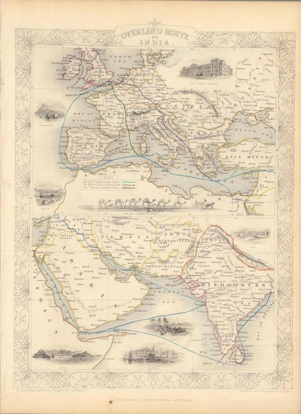 The Illustrated Atlas - Overland Route to India (1851)