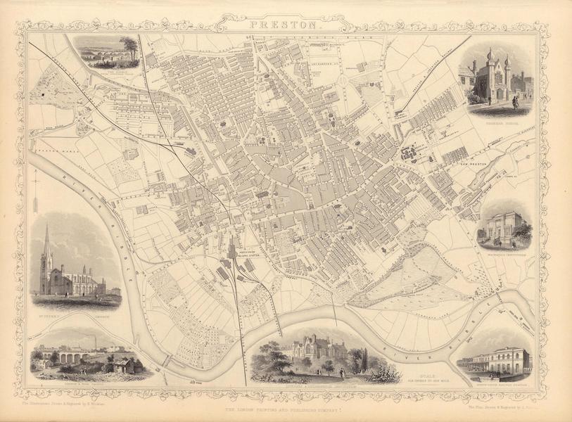 The Illustrated Atlas - Preston (1851)