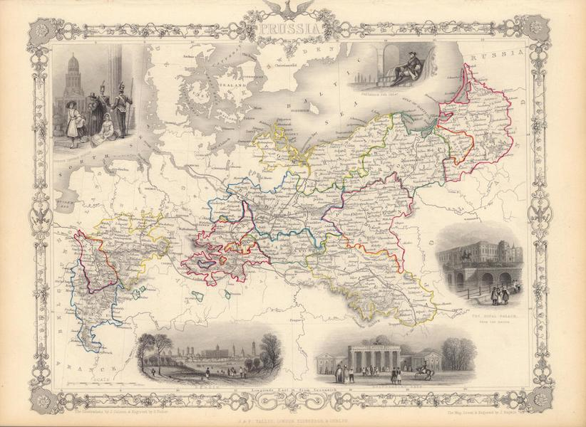 The Illustrated Atlas - Prussia (1851)