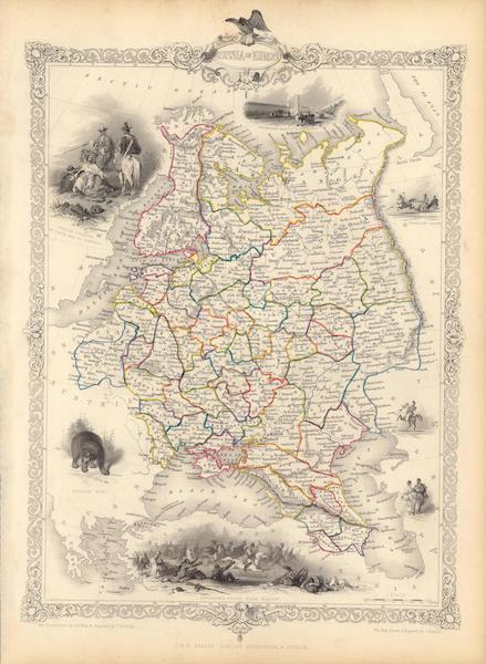The Illustrated Atlas - Russia in Europe (1851)
