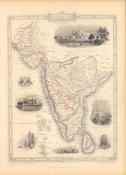 The Illustrated Atlas - Southern India including the Presidencies of Bombay & Madras (1851)