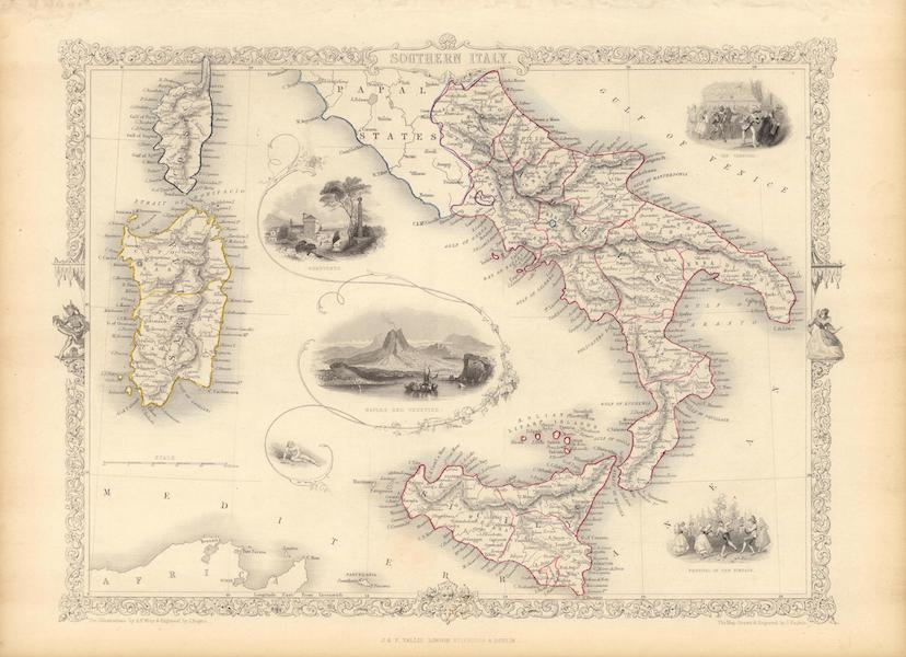 The Illustrated Atlas - Southern Italy (1851)