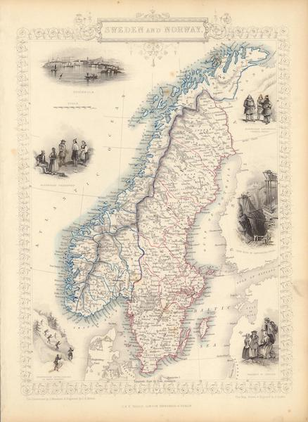 The Illustrated Atlas - Sweden and Norway (1851)
