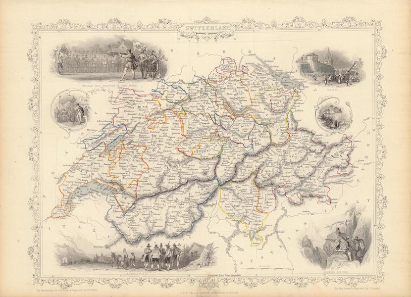 The Illustrated Atlas - Switzerland (1851)