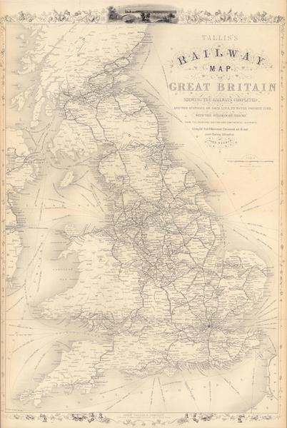 The Illustrated Atlas - Talis's Railway Map of Great Britain (1851)
