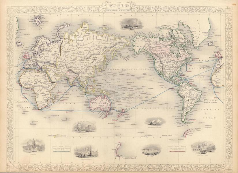 The Illustrated Atlas - The World on Mercator's Projection (1851)