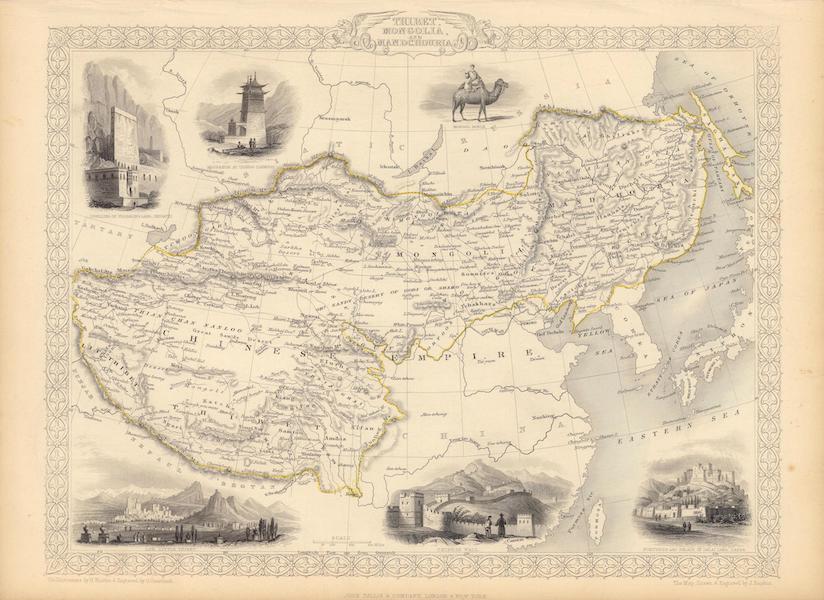 The Illustrated Atlas - Thibet, Mongolia, and Mandchouria (1851)