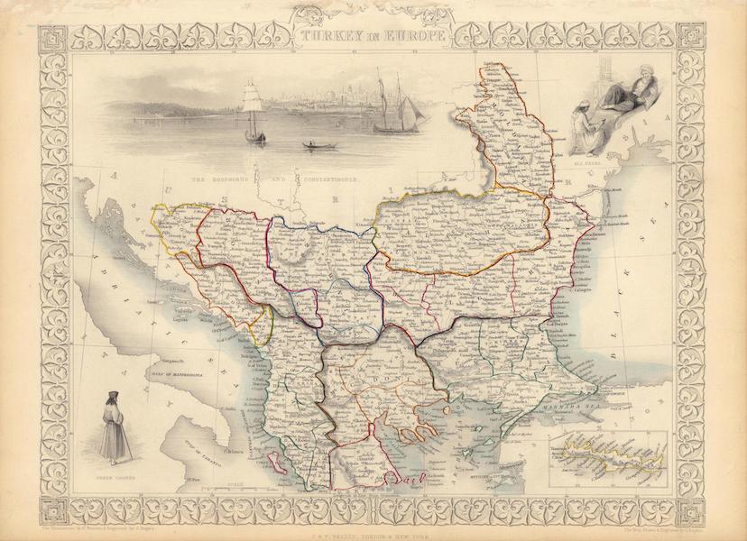 The Illustrated Atlas - Turkey in Europe (1851)