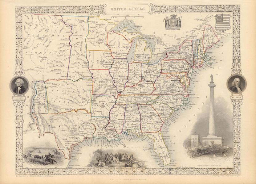 The Illustrated Atlas - United States (1851)